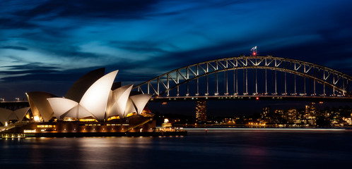 Photo sur cadre textile Australie Harbor Bridge Skyline II