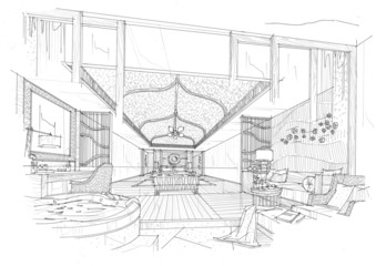 sketch design bedroom,interior design