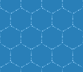 Hi-tech hexagons pattern