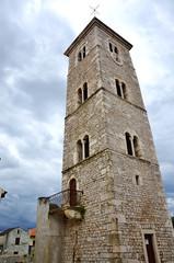 The tower parish church sv.Anselma Nin Croatia