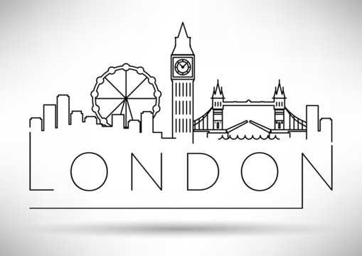 City of London Minimal Skyline Design