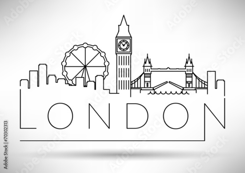 Line Drawing Tattoo Artists London : Quot city of london minimal skyline design stock image and