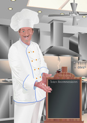 Chef d'oeuvre Presenting Welcome Menu Board