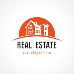 Real estate logo sun