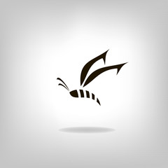Creative beautiful butterfly or bee icon