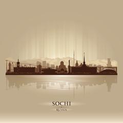 Sochi Russia skyline city silhouette