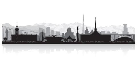Sochi Russia city skyline vector silhouette