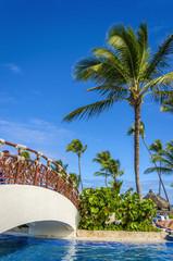Beautiful resort close to an exotic Caribbean beach