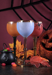 Happy Halloween ghoulish party cocktail drinks.
