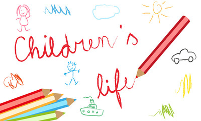 children's lives vector background