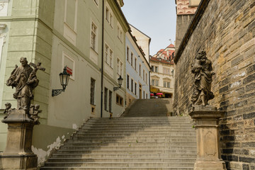 Prague old town stairs