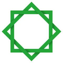 Green Octagram 3D