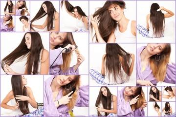 femmes et leurs cheveux