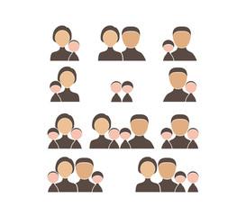 People Family icon set