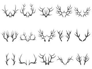 deer horns silhouettes