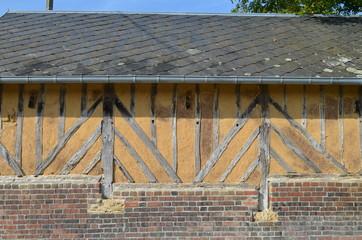 Grange à colombage dans le Pays d'Auge (Normandie)