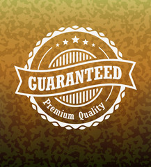 Guarantee Vintage Stamp with Abstract Background