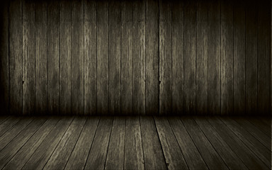 Wood wall and floor for background