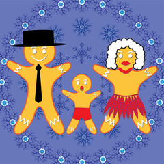 Gingerbread man's family