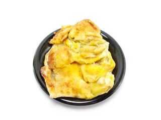 sweet roti with egg and banana