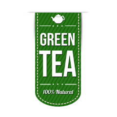 Green tea banner design