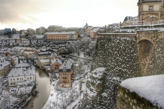 Luxembourg during winter...