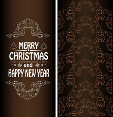 Christmas banner in the Victorian style