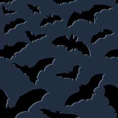Vector Seamless Hallloween Pattern. Bats.