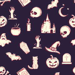 Vector Seamless Halloween Pattern