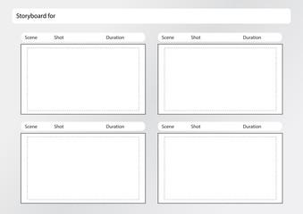 storyboard template x4