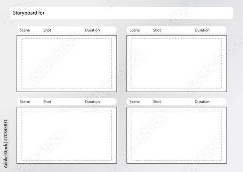 Storyboard Template X4 Stock Image And Royalty Free Vector Files On