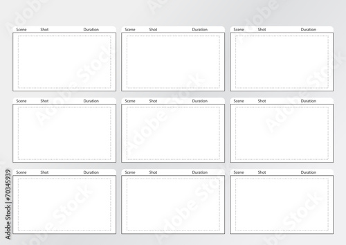 "Professional Of Storyboard Film Strip Template"" Stock Image And"
