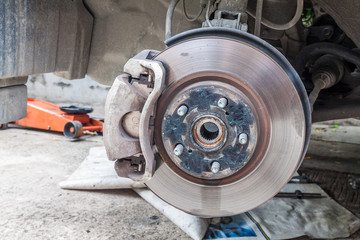Car disc brakes fixing
