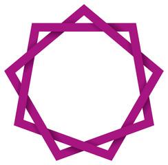 Purple Enneagram 3D