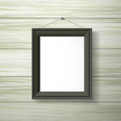 blank black photo frame