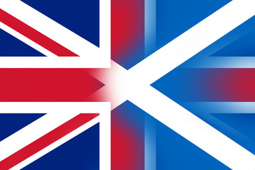 Scotland and United Kingdom Flag