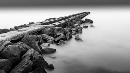Black and White Silent Sea