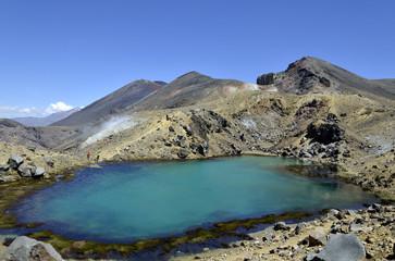 Lower Emerald lake in Tongariro National park.