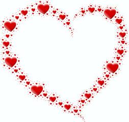 czerwone serce z czerwonych serc