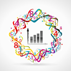 Statistics concept illustration