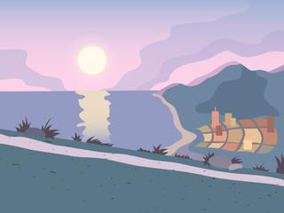 Sunset road background