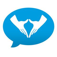 Etiqueta tipo app azul comentario simbolo feminismo