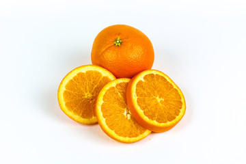 Ripe Sliced Oranges
