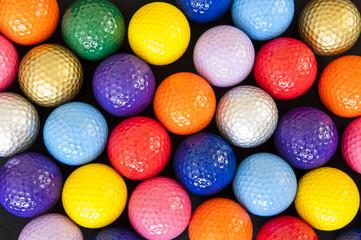 Poster Golf Colorful Golf Balls