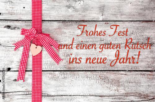 Frohes Fest und einen guten Rutsch ins neue Jahr!\