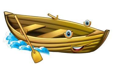 Cartoon wooden boat - illustration for the children
