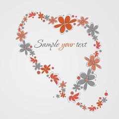 Herz, Blumen Hintergrund