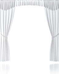 White Curtain over White Background