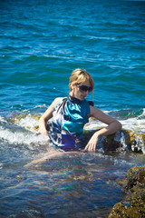 in sea foam