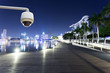 CCTV with night cityscape background